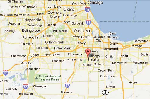Aen Industries: Map Of Chicago Heights Illinois At Usa Maps